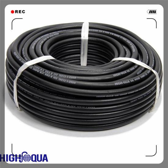 Smooth Surface Fiber Braid Rubber Oil Hose Fuel Hose