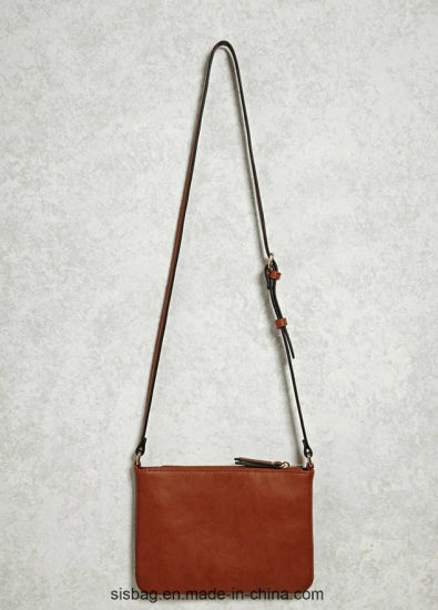 New Designer Tan Color Shoulder Bag Zip Crossbody Bag pictures & photos