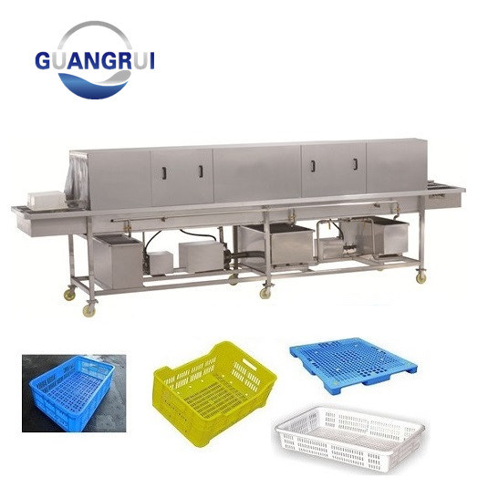 Industrial Automatic Turnover Plastic Baskets Box Cleaning Washing Machine pictures & photos