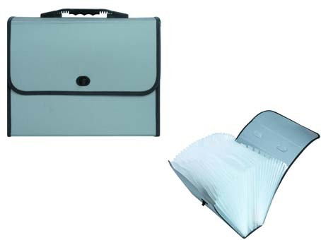 Customized Expanding File with Cloth Edge & Handle / Document Bag (E1125)