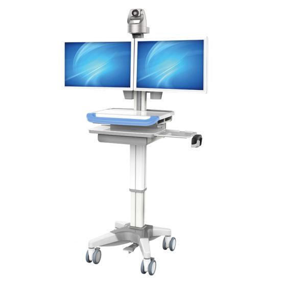 Medical Integrated Mobile for Health Care Computer Telemedicine Workstation Cart Trolley