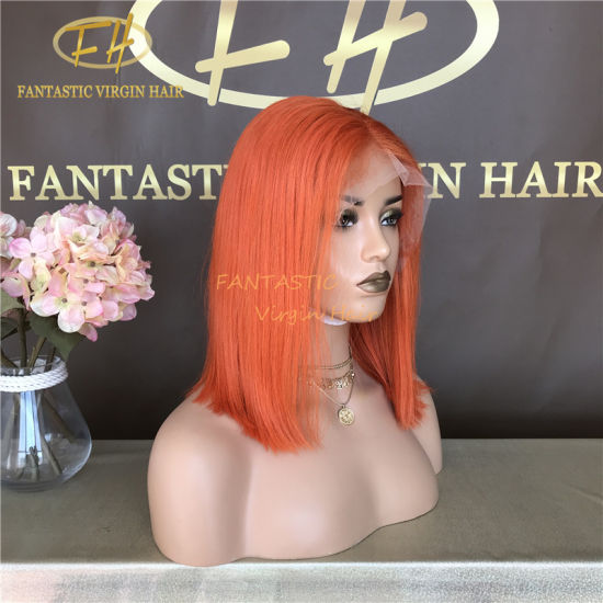 100% Brazilian/indian Virgin/remy Human Hair Full/frontal Lace Bob Wig With Top Quality
