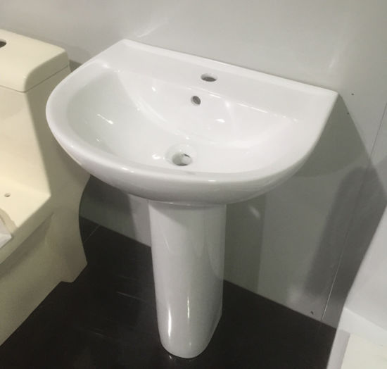 China Two Pieces Ceramic Sanitary Ware Wash Basin with Pedestal ...