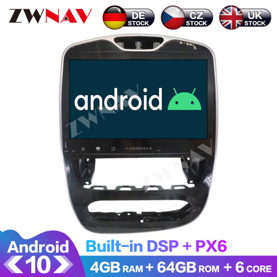 Android 10.0 Px6 64GB Car DVD GPS Navigation for Renault Clio 2017-2018 Multimedia Player Radio Tape Recorder