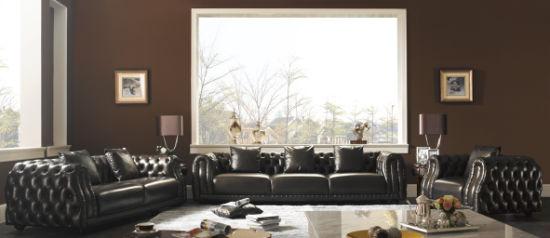 Living Room Furniture Leather Sofa