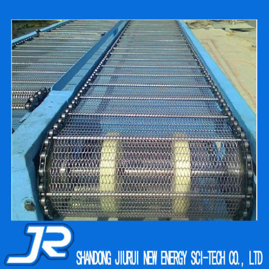 Stainless Steel Eye Link Mesh Belt Conveyor for Cooling Equipment pictures & photos