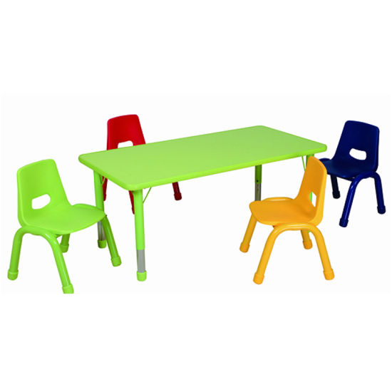 Wood Kids Table with Chair for Kindergarten Furniture