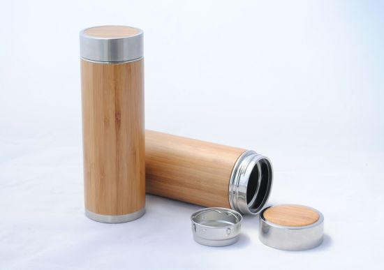 Bamboo Covered Straight Stainless Steel Insulated Mug pictures & photos