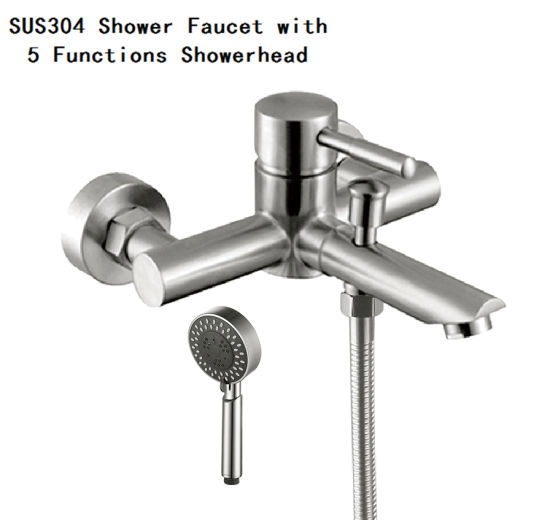 Stainless Steel Bathroom Mixer Shower Set with Handheld Head pictures & photos