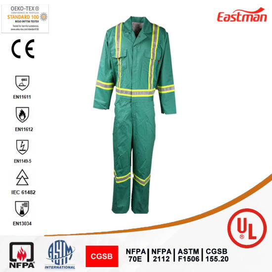 UL Certificated Nfpa 2112 Arc Flash Welding Fr Coverall