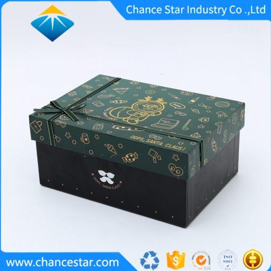 Custom Foil Logo Print Paper Cardboard Christmas Gift Box
