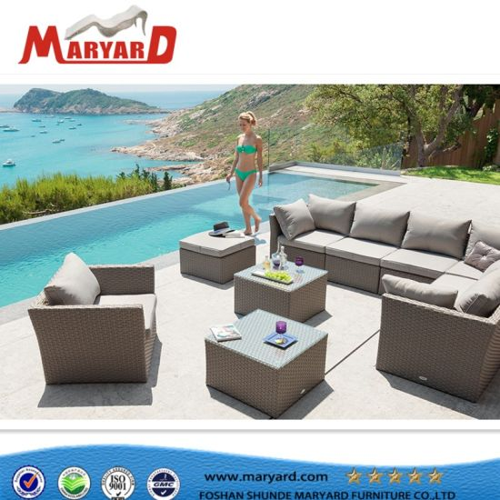 Elegant High Quality Outdoor Fabric Furniture Garden and Hotel Sofa