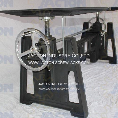 Adjustable Height Workbench Table Lifting Screw Jack Industrial Crank Table Lift Mechanism