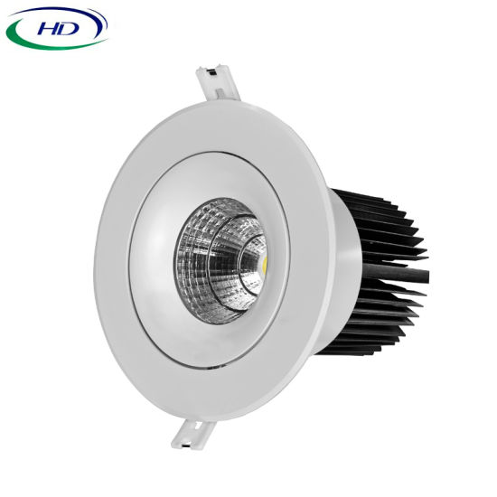 15W COB-W Series High Brightness Adjustable LED Downlight pictures & photos