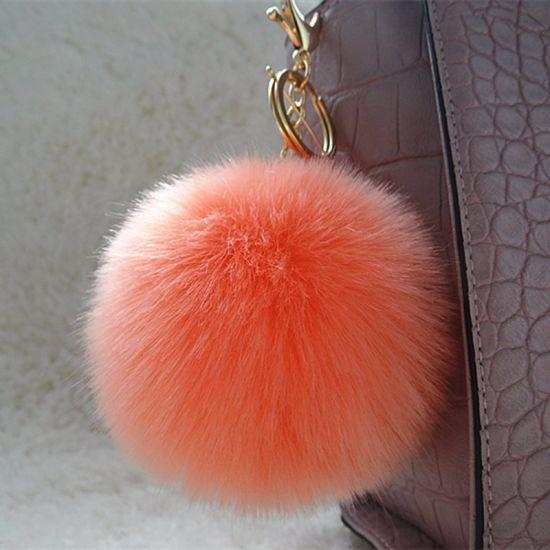 4a0b8c58a9e8 Stylish Fake Fur Pompom Keychain Fur Ball for Bag Pendant Letter Fur POM  Poms pictures