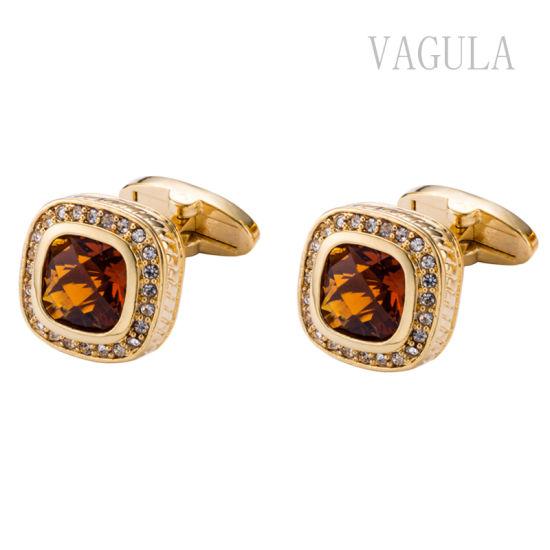 VAGULA New Arrival Men Jewelry Crystal Gemelos Cuff Links 163