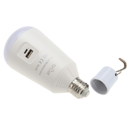 Multi-Functional Rechargeable LED Bulb with Solar Panel pictures & photos