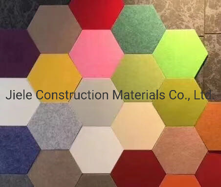 Featured Polyester Fiber (PET) Fireproof Acoustic Panel / Ceiling Panel