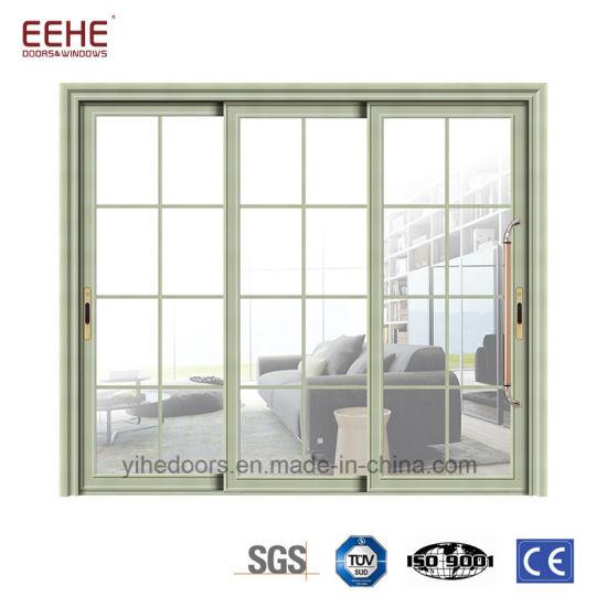 China Commercial Large Sliding Glass Doors White Sliding Aluminium