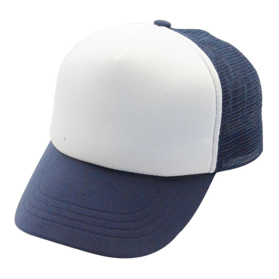 cd971f91ca4 Custom Blue White Kids Baby Visor Fashion Snapback Baseball Cap Children  Cotton Trucker Hats