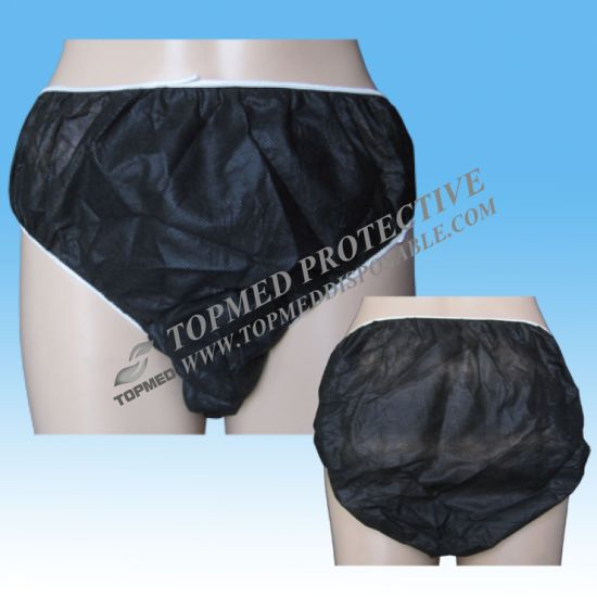 Hot Sell Nonwoven Disposable Panties for Women, Disposable Ladies Panties for Salon SPA Use pictures & photos