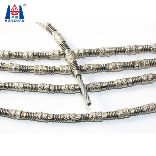 China Professional Manufacturer Vacuum Brazed Diamond Wire Saw Parts ...