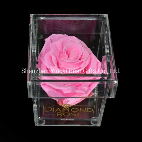 Customized PMMA Acrylic Plastic Transparent Flower Box pictures & photos