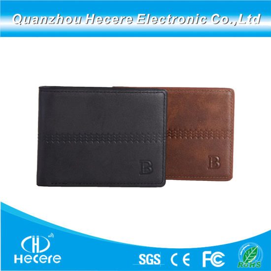 Elastic Wallet Card Holder Custom RFID Blocking PU Leather Men Card Magic Wallet pictures & photos