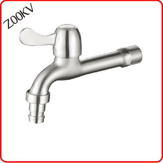 Sanitary Ware Factory Stainless Steel Long Body Cold Water Bibcock Mop Pool Tap for Washing Machine