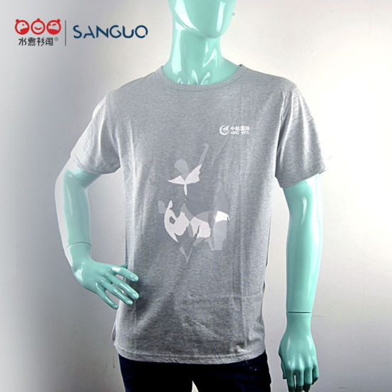 T Shirt Promotional Soft Cotton Printing Company Breathable Sports