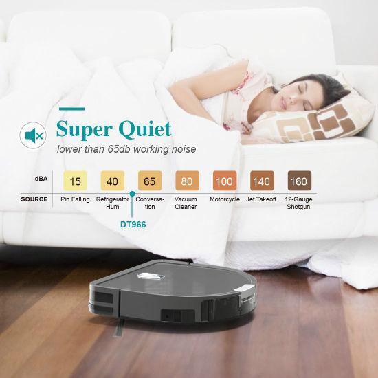 Smart Wireless Us/Euro Hot Selling Wet Dry Floor Robot Vacuum Cleaner