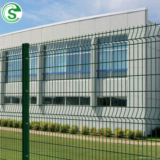 3V Shape Galvanized Curved Wire Mesh Fence