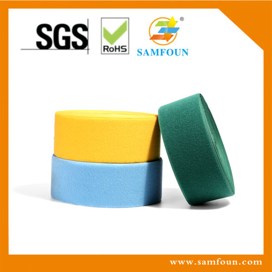Colorful Sew on Hook and Loop Tape Accept OEM/ODM