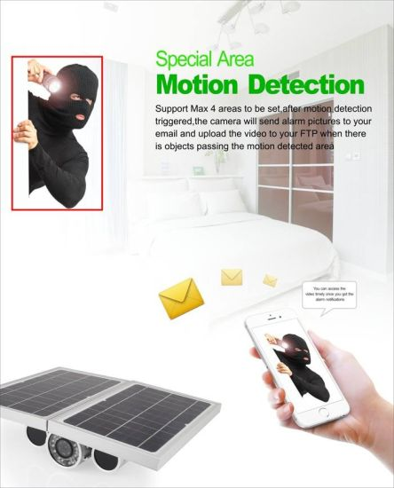 China Outdoor Wireless Battery Operated Motion Sensor Security Solar