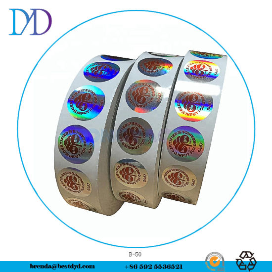 Strong Adhesive Permanent Holographic Sticker /Label Security Seals
