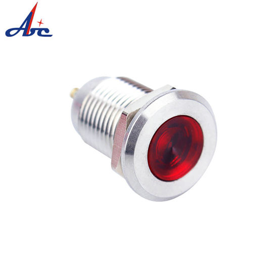 Indicator Lights Professional Lighting 22mm Ip67 Waterproof Led Metal Indicator Lamp Light Signal Pilot Warning Screw Feet 5v 12v 24v 110v 220v Red Blue Green Yellow