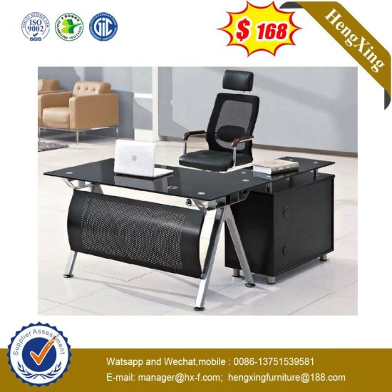 Price L Shape Lab Hotel Staff Manager Executive Tempered Gl Office Table Hx Gl042