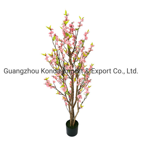 Hot Sale Fake Pink White Indoor Small Artificial Plastic Cherry Blossom Tree for Wedding