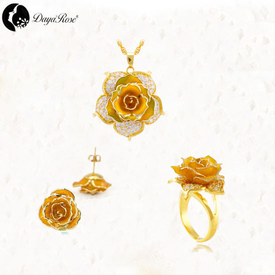 Mosaic Gold Rose Color Jewelry (natural flowers) pictures & photos