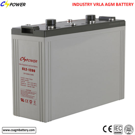 Deep Cycle 2V 1200ah Rechargeable VRLA AGM Lead Acid Battery