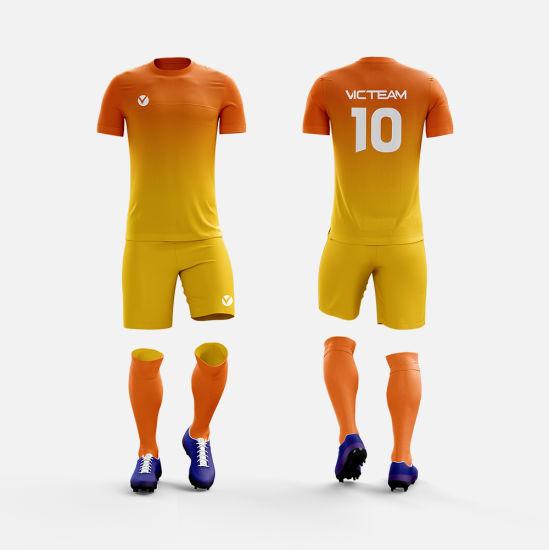 4624ea70bb9 China Breathable Polyester Youth Training Football Jersey - China ...