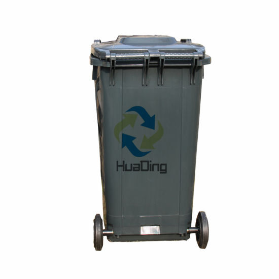 240L Plastic Garbage Bin Rubber Wheel Trash Can for Outdoor HD2wnp240b-H pictures & photos