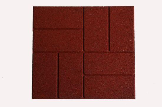 400x400mm Brick Rubber Floor Tiles New, Outdoor Brick Floor Tiles