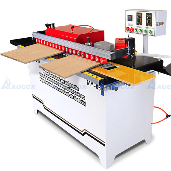 My05 130kg Semi Automatic Edge Banding Machine with Gluing Edge Bander, Trimming, Buffing and Pneumatic End Cutting Woodworking Machinery