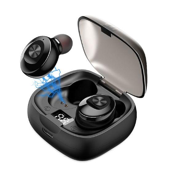 New Arrivals Original Ipx6 Waterproof Auto Pairing LED Display Wireless Bluetooth 5.0 Earphone Headphone