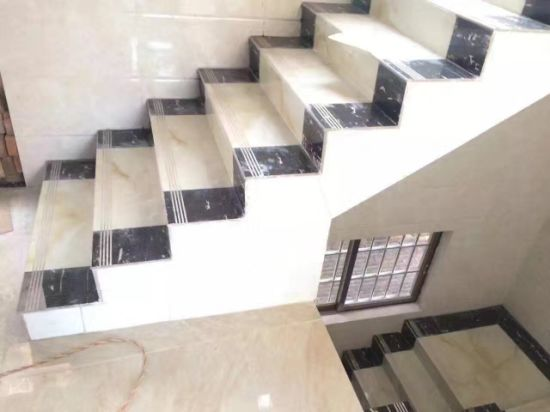 China Supplier Glazed Polished Porcelain Stairs Tile Ceramic Stair Tiles