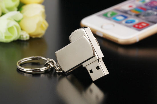 Rotatable Metal USB Stick Customized Logo USB Flash Drive pictures & photos