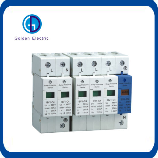3P 30KA~60KA Din Rail Surge Protection Device SPD Lightning Arrester Protection