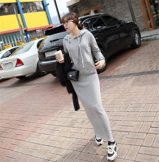 Autumn and Winter Fashion Women Long Fleece Coat pictures & photos