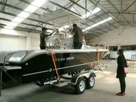 7.20m T-Top FRP Fishing Yacht with Center Console